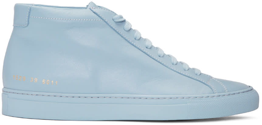 Common Projects Blue Original Achilles Mid Sneakers