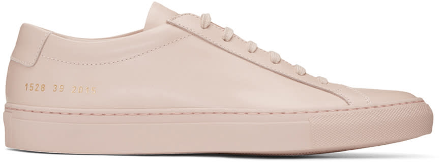 Common Projects Pink Original Achilles Low Sneakers