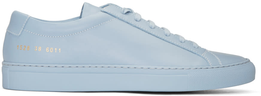 Image of Common Projects Blue Original Achilles Low Sneakers