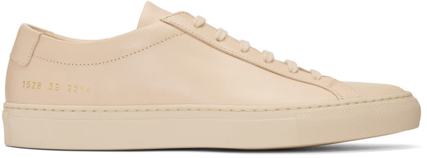 Image of Common Projects Beige Original Achilles Low Sneakers