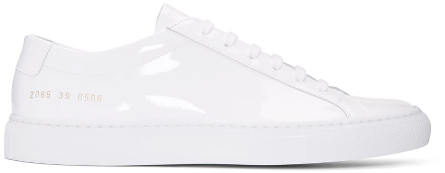 Common Projects White Achilles Low Gloss Sneakers