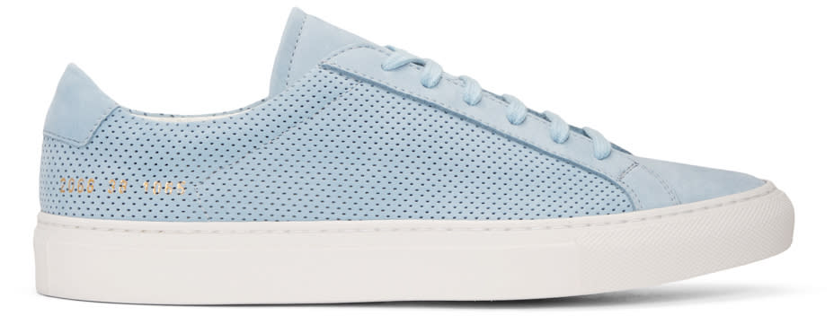 Common Projects Blue Suede Achilles Summer Edition Sneakers