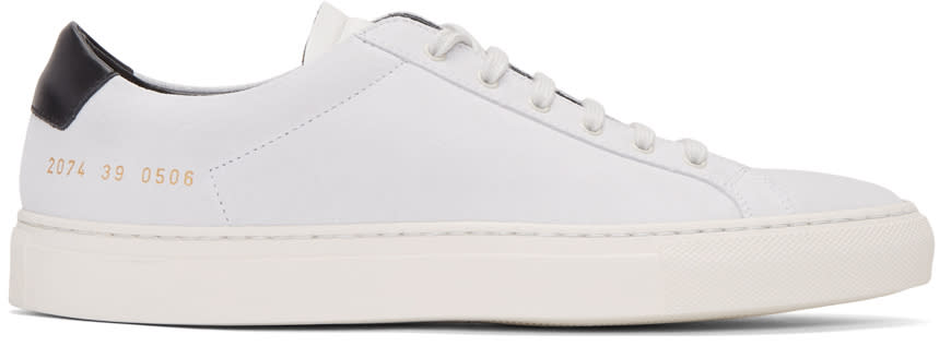 Common Projects White Suede Achilles Retro Low Sneakers