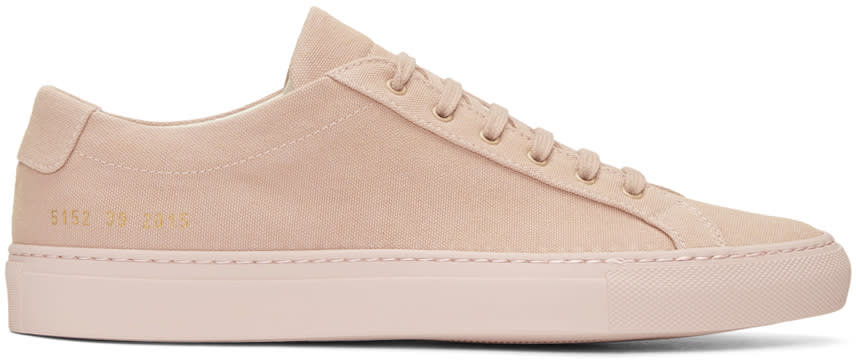 Common Projects ピンク キャンバス アキレス ロー スニーカー