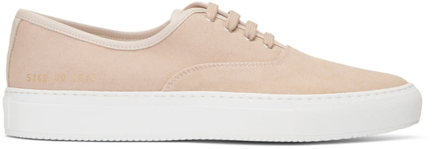 Common Projects ピンク キャンバス トーナメント 4 ホール スニーカー