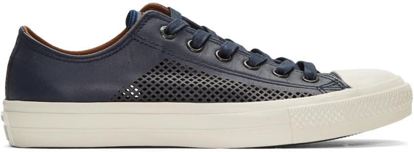 Converse By John Varvatos Navy Ctas Ii Miro Perforated Sneakers