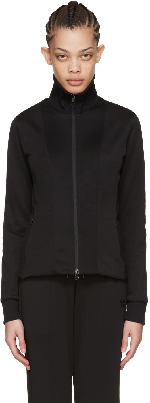 Y-3 Black Zip-up Track Jacket