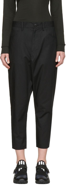 Y-3 Black Minimalist Sarouel Trousers