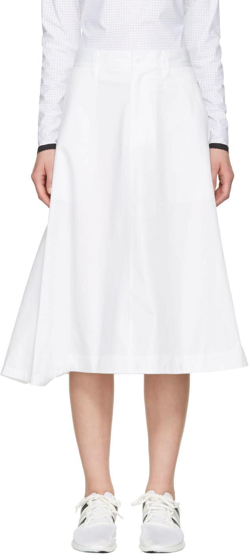 Y-3 White Technical Skirt