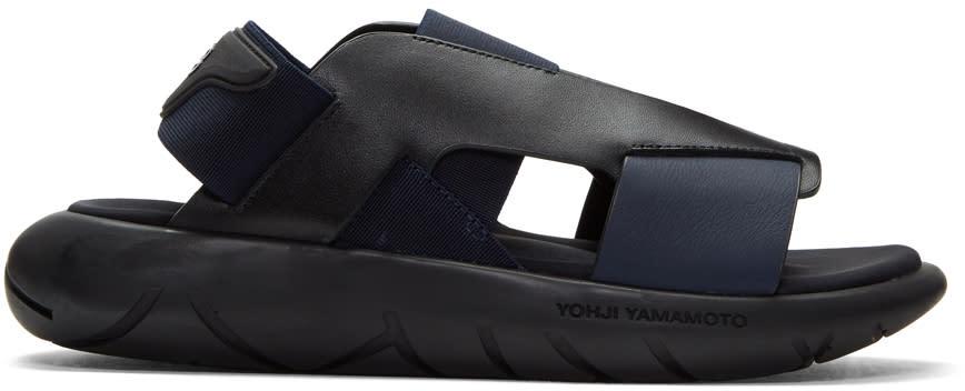 Y-3 Black and Blue Qasa Elle Sandals