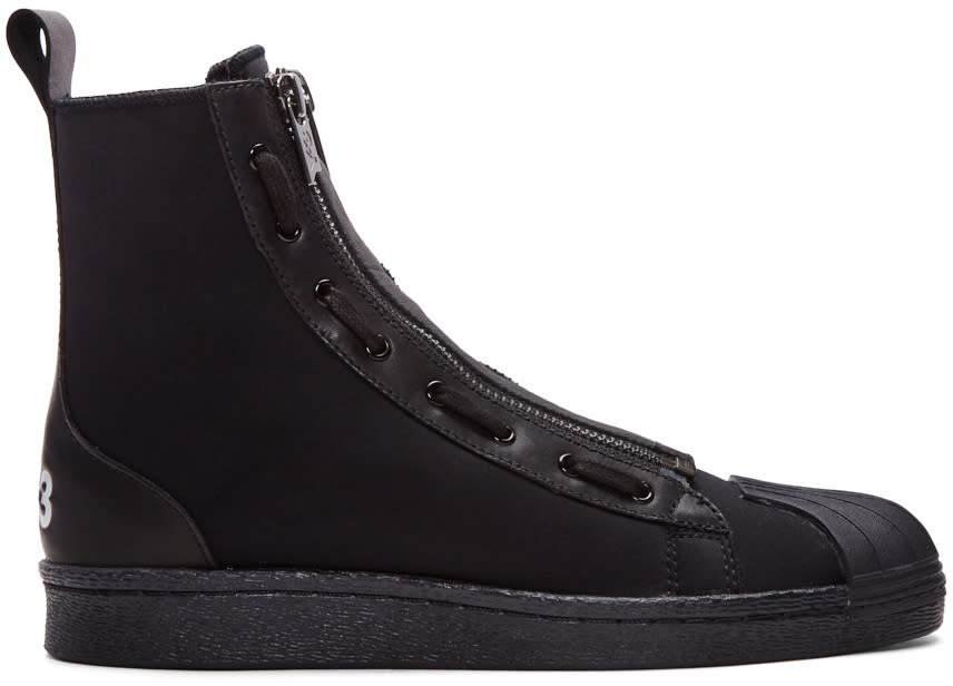 Y-3 Black Pro Zip High-top Sneakers
