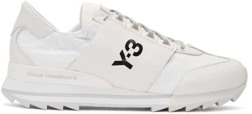 Y-3 White Rhita Sport Sneakers