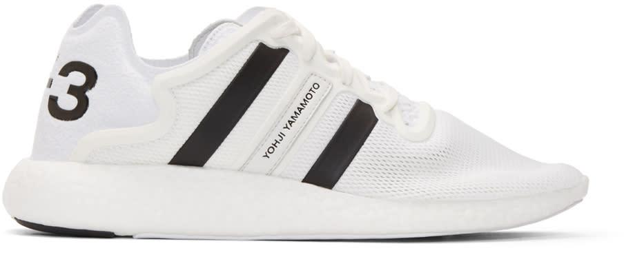 Y-3 White Yohji Run Boost Sneakers