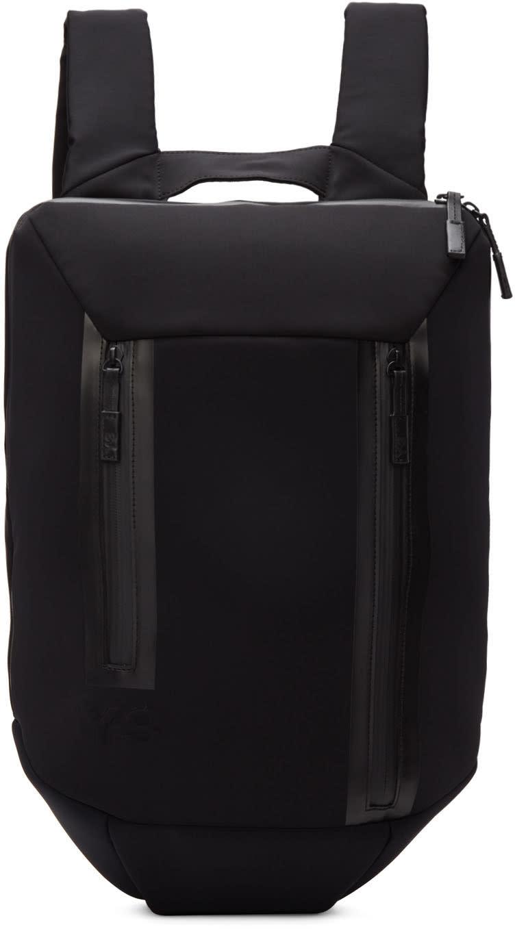 Y-3 Black Neoprene Flat Backpack