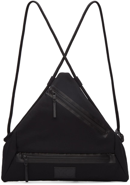 Y-3 Black Neoprene Qasa Triangle Backpack
