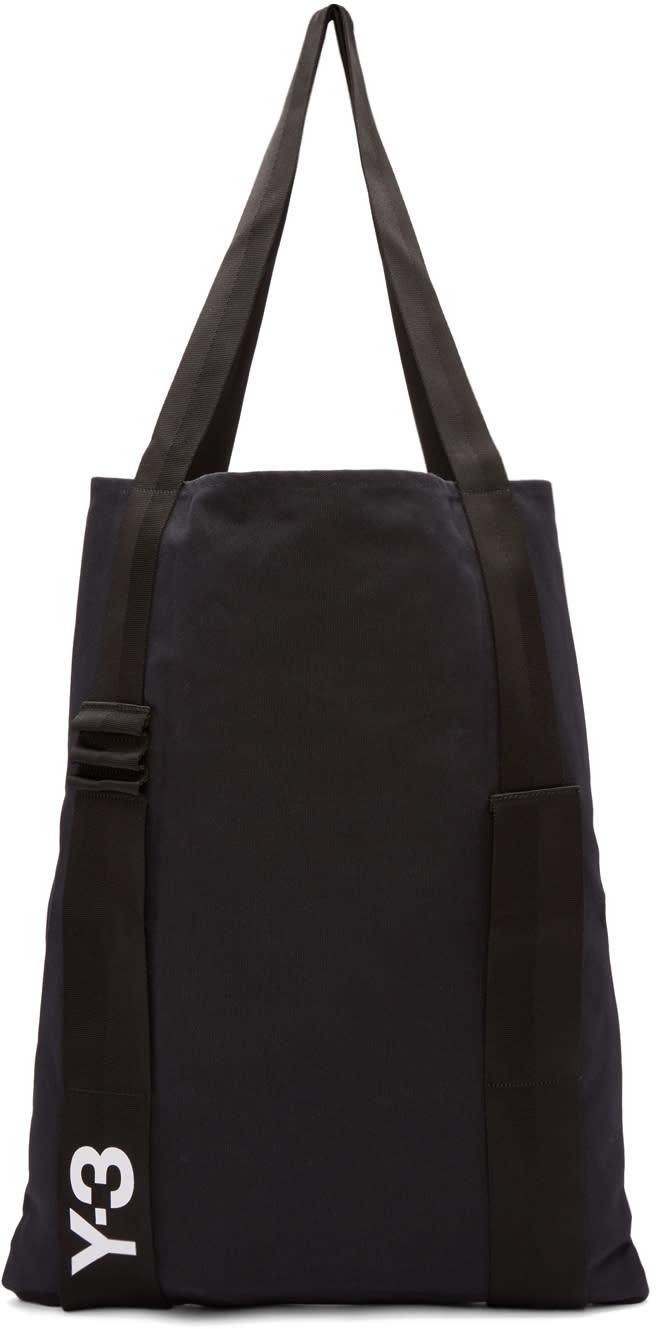 Y-3 Black Iconic Tote Bag