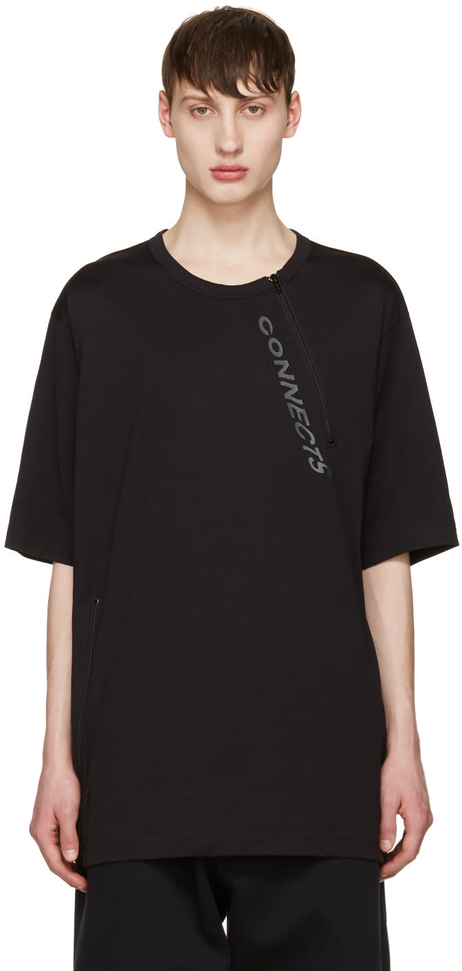 Y-3 Black Zip T-shirt