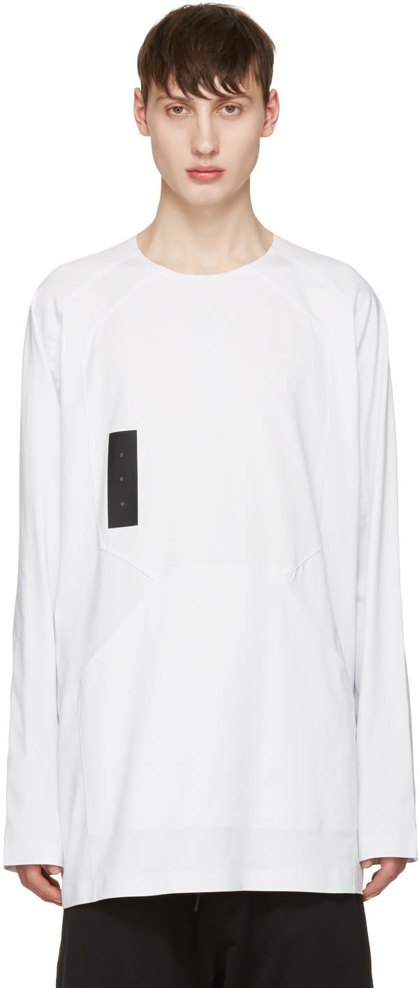 Y-3 White Skylight Long Sleeve T-shirt