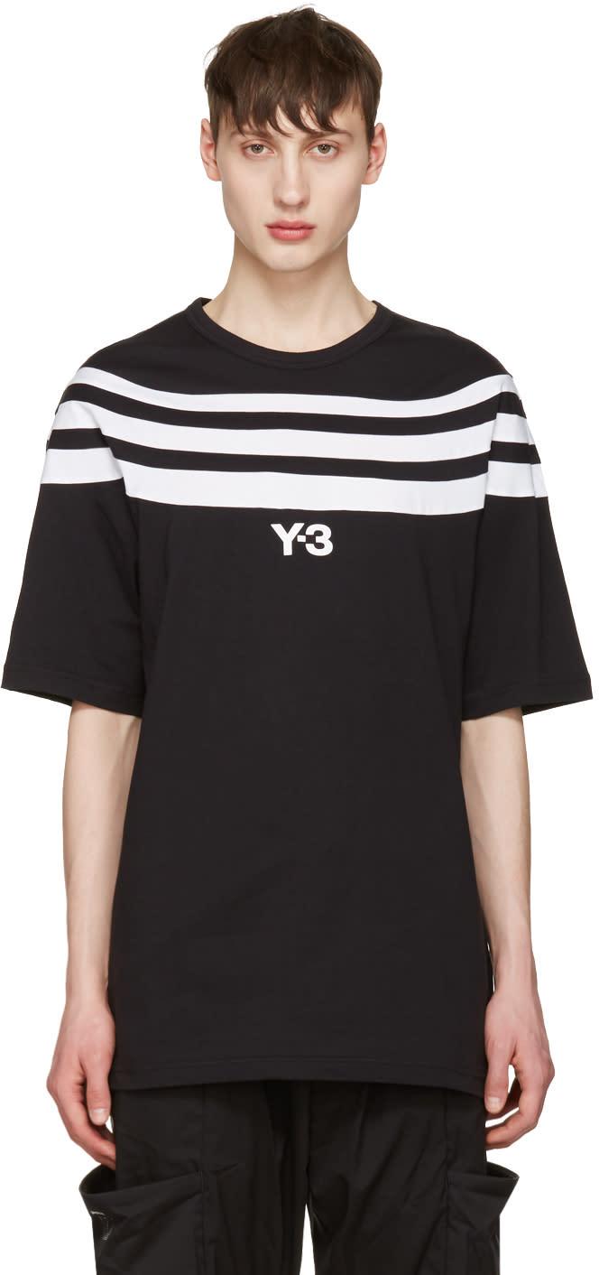 Y-3 Black Three Stripe T-shirt