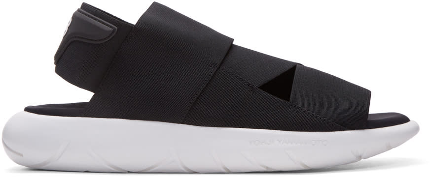 Y-3 Black Qasa Sandals