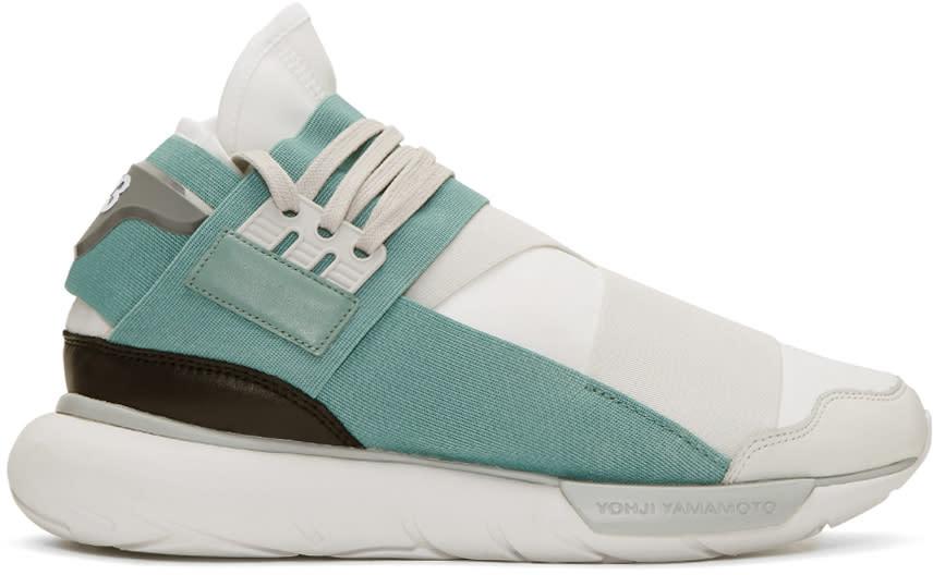 Y-3 White Qasa High Sneakers