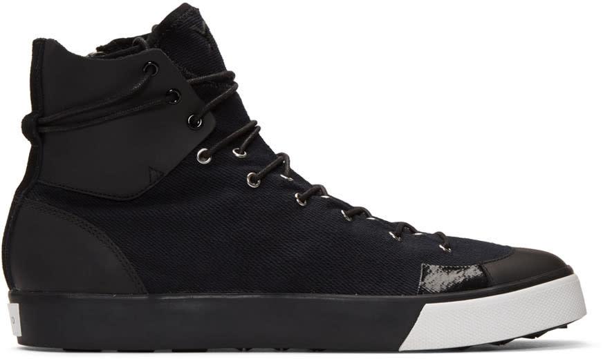Y-3 Black Sen High-top Sneakers
