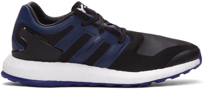 Y-3 Black Pure Boost Sneakers