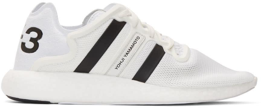 Y-3 White Yohji Run Sneakers