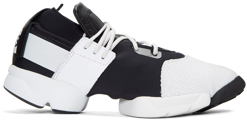 Y-3 Black and White Kydo Sneakers