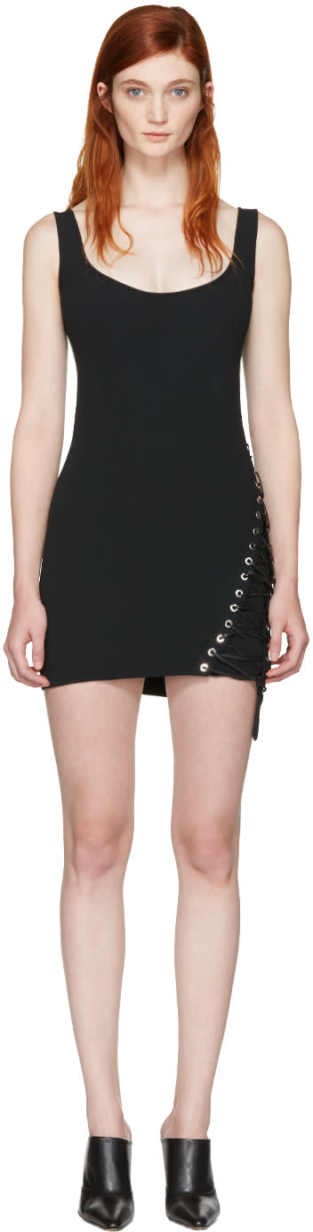 Dsquared2 Black Boot Lacing Dress