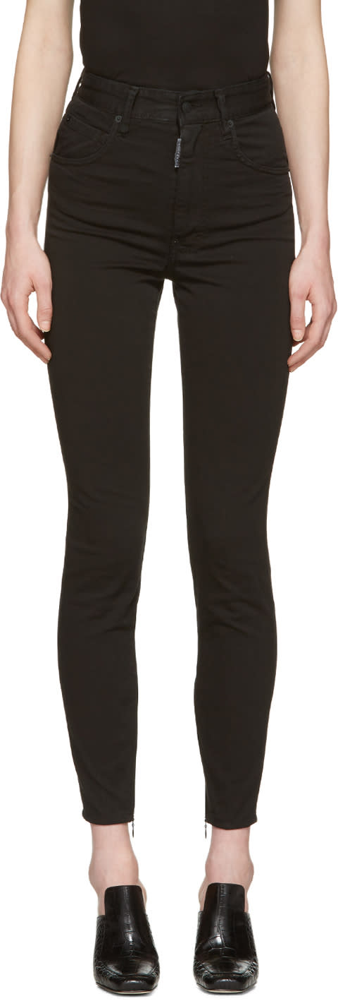 Dsquared2 Black Twiggy Jeans