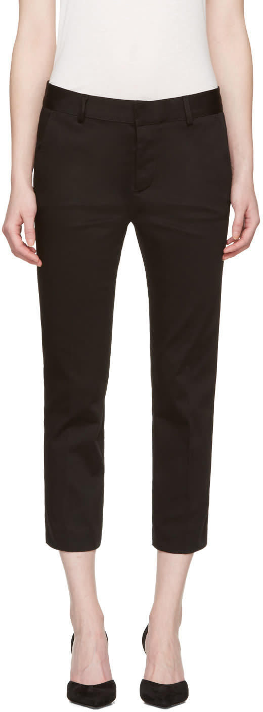 Dsquared2 Black Cool Girl Cropped Trousers