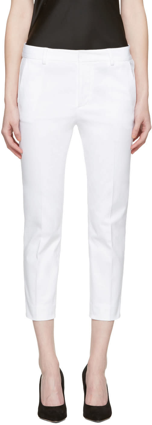 Dsquared2 White Cool Girl Cropped Trousers