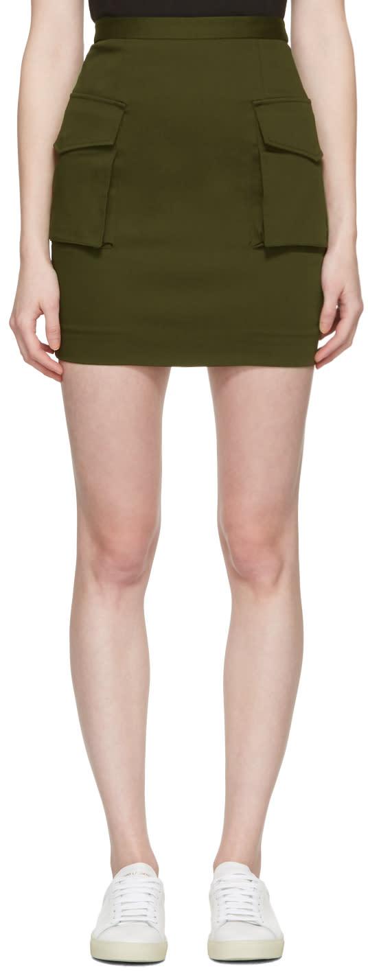 Dsquared2 Green Cargo Skirt