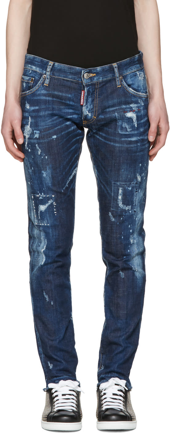 Dsquared2 Blue Distressed Clement Jeans