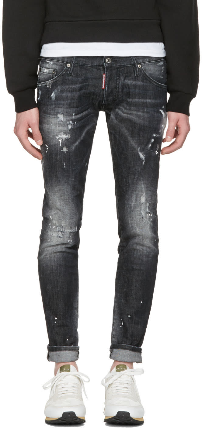 Image of Dsquared2 Black Clement Jeans