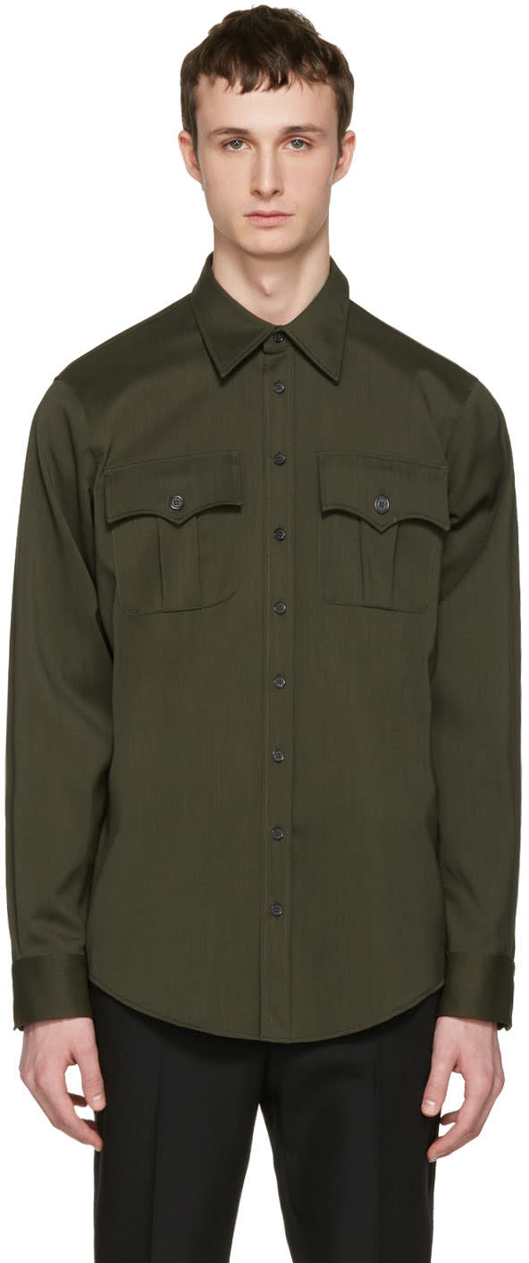 Dsquared2 Green Military Shirt