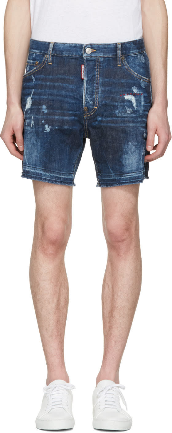 Dsquared2 Blue Square Crotch Shorts