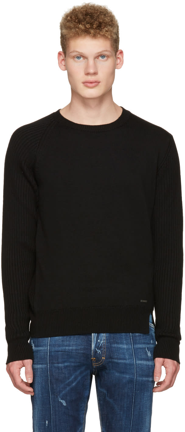 Dsquared2 Black Wool Sweater