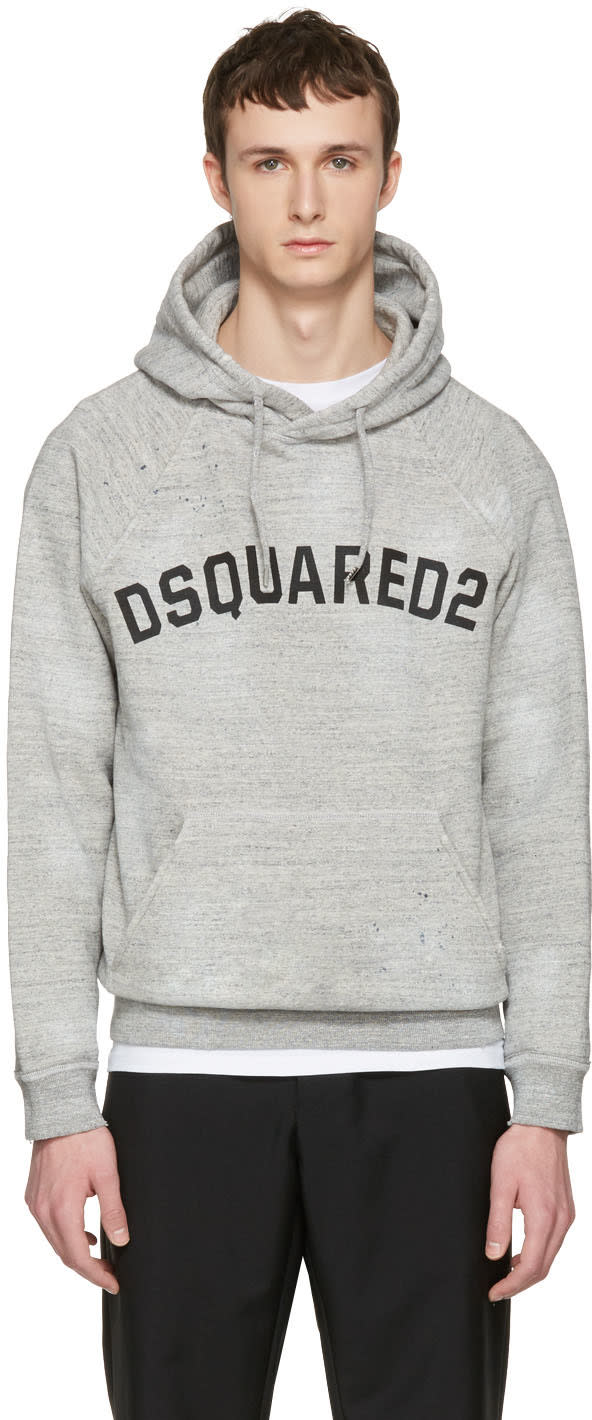 Dsquared2 Grey Logo Hoodie