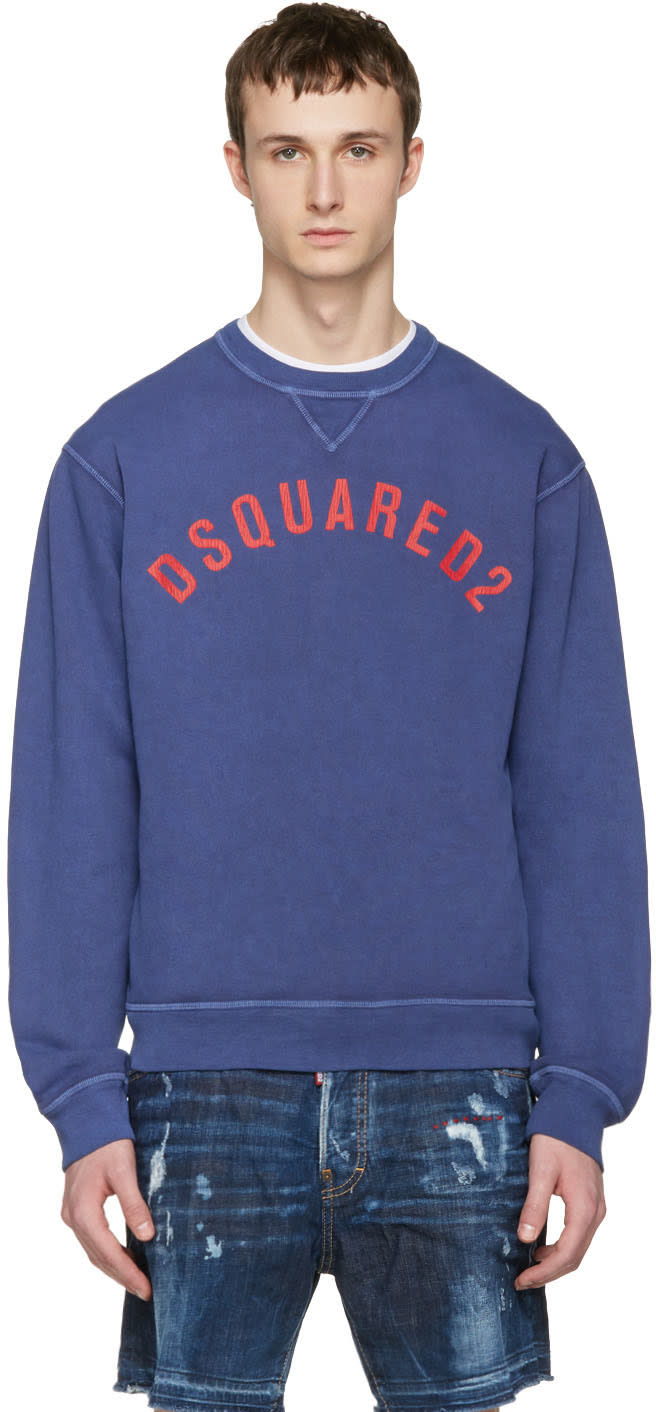 Dsquared2 Navy Logo Pullover