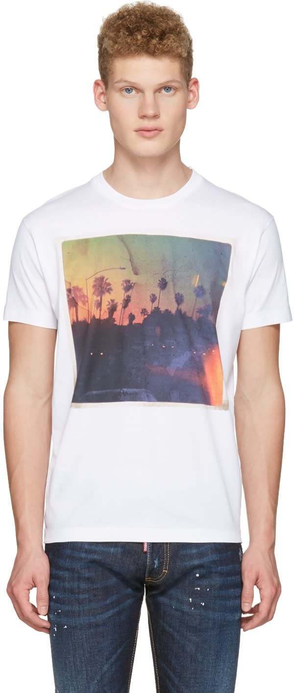 Dsquared2 White Road Trip T-shirt