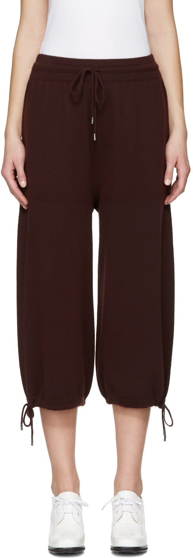 Helmut Lang Burgundy Cashmere Lounge Pants