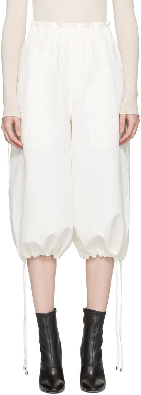 Helmut Lang Off-white Pique Culottes