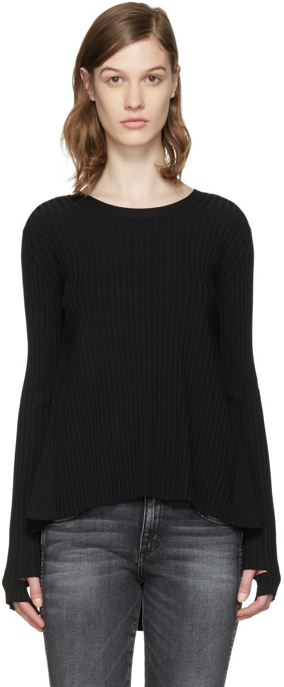 Helmut Lang Black Ties Pullover