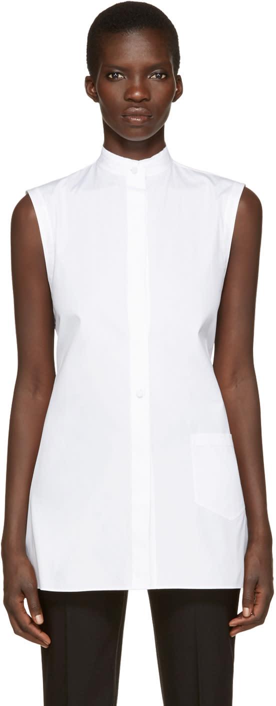 Helmut Lang White Apron Shirt