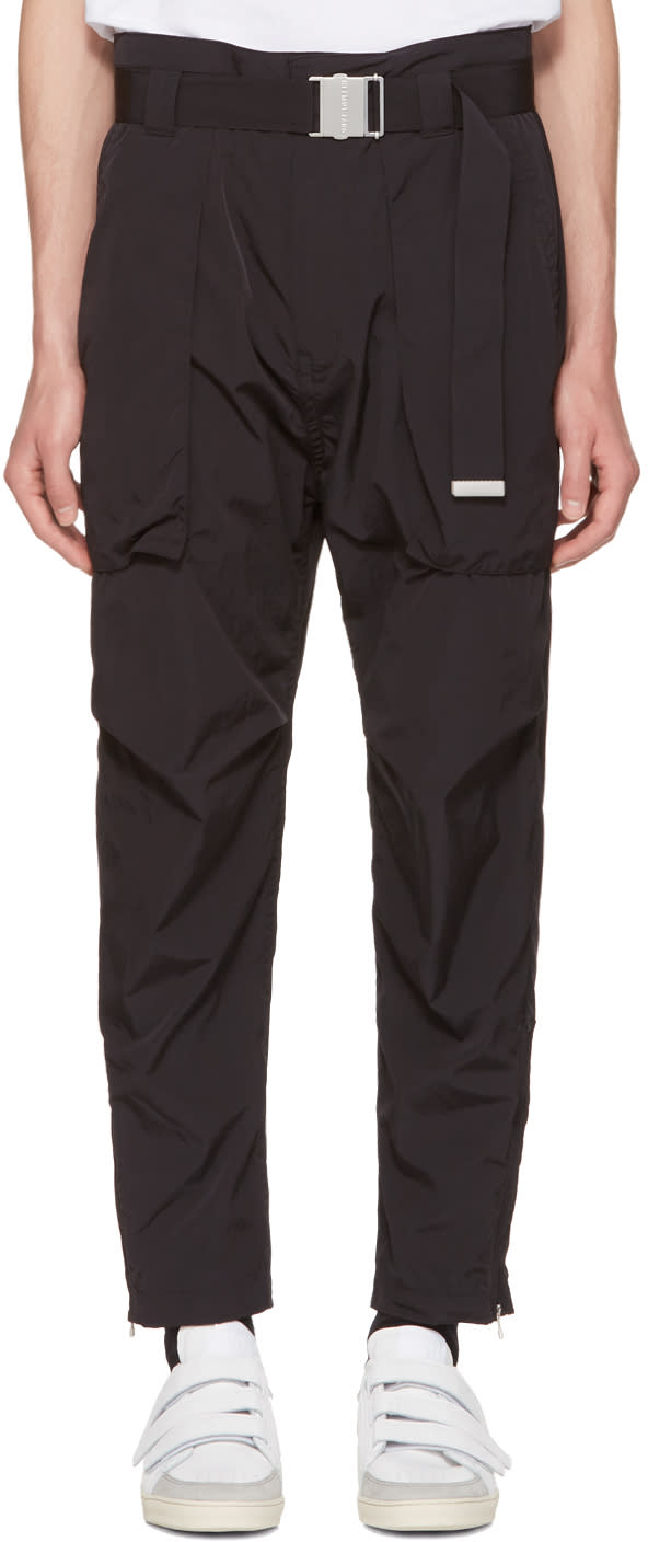 Image of Helmut Lang Black Belted Trousers