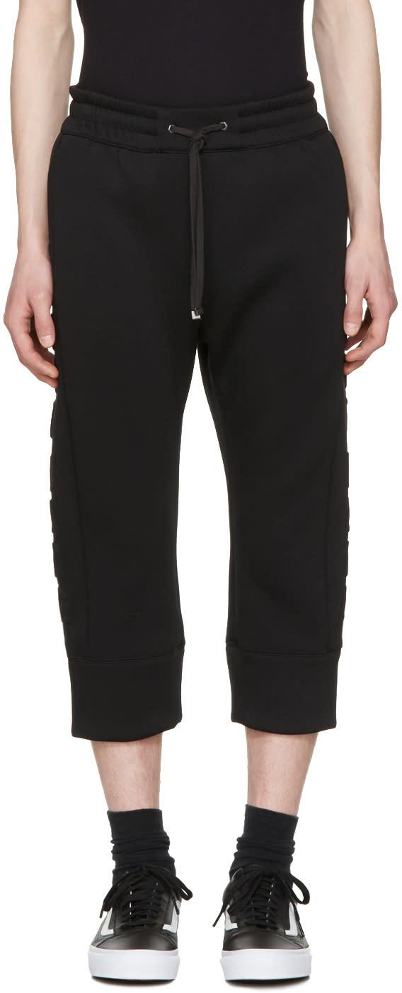 Helmut Lang ブラック 3d ロゴ ジョガー パンツ