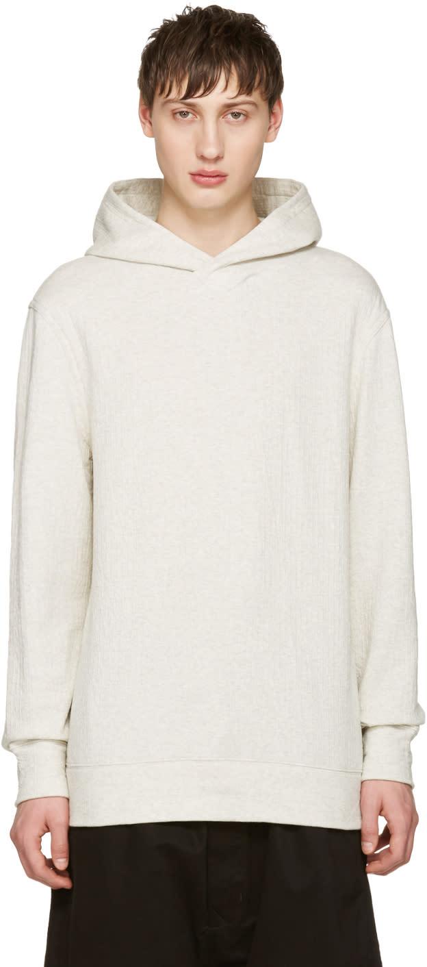 Helmut Lang Grey Pullover Hoodie
