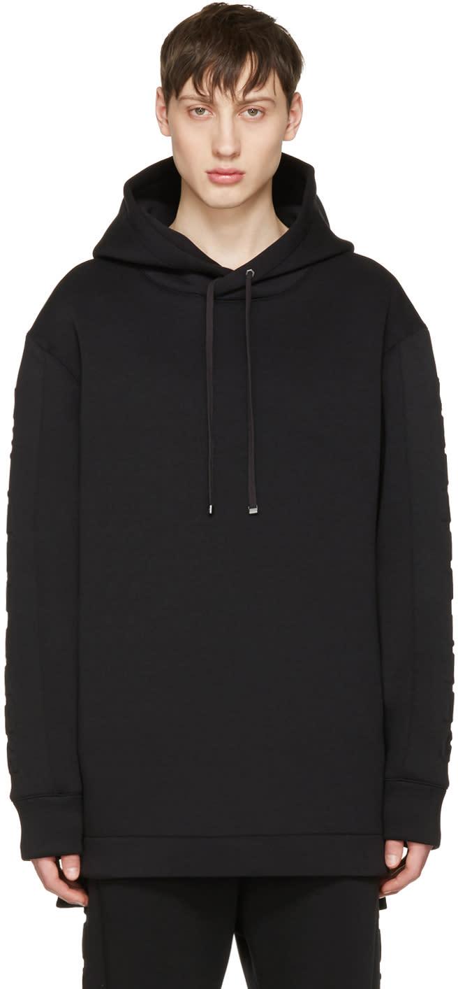 Helmut Lang Black 3d Logo Hoodie